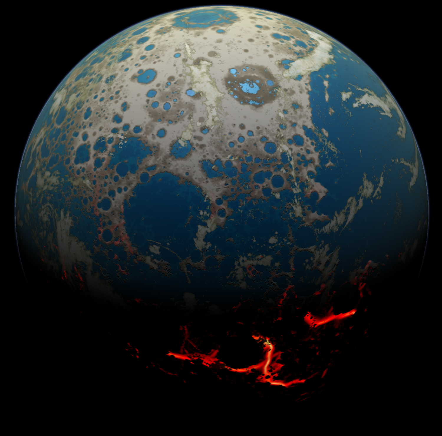 News - NASA simulation shows the heavy pummeling ancient